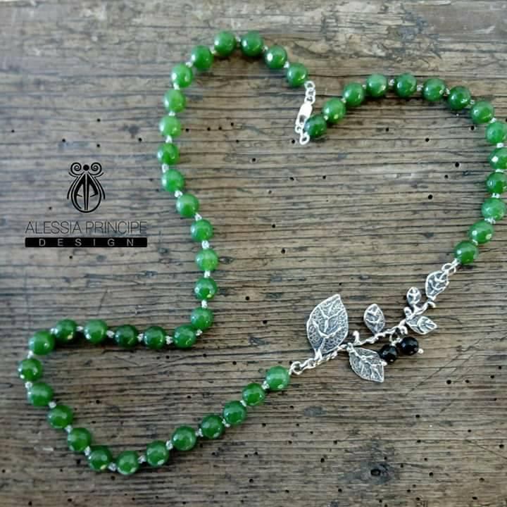 Collana agata verde