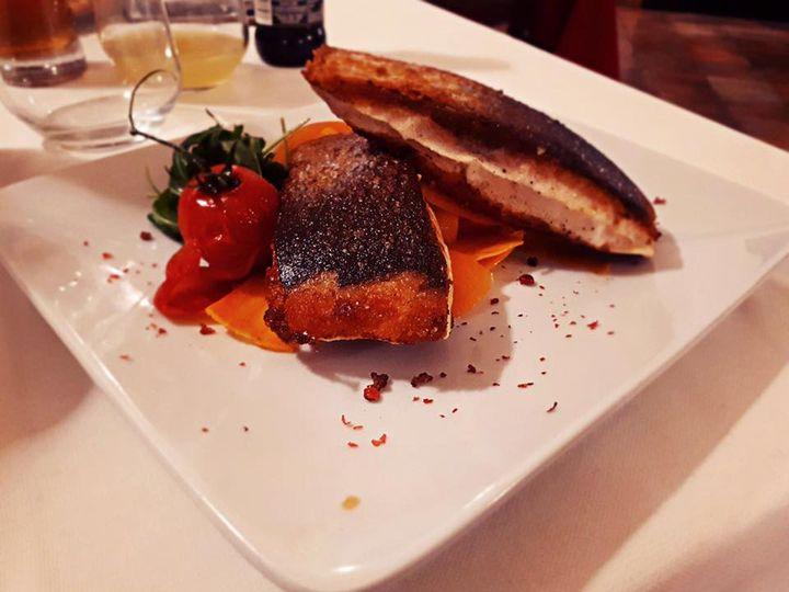 Filetto di salmone scottato del nostro chef Marco Monaco