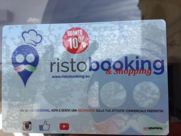 Da oggi disponibili le tessere Ristobooking