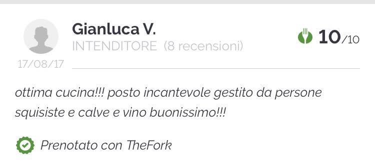 Grazie a Gianluca per la simpatica recensione