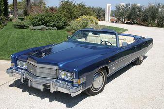 [Cadillac Eldorado Cabrio]  Blue, colore intenso, rifiniture eccellenti interni in pelle beige , decappottabile, molto particolare nella sua categoria